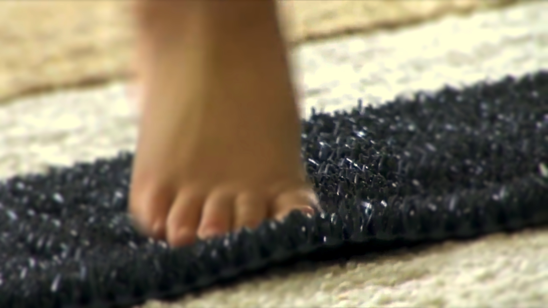 Foot on Textured Doormat for Sensory Enrichment Therapy for Autism