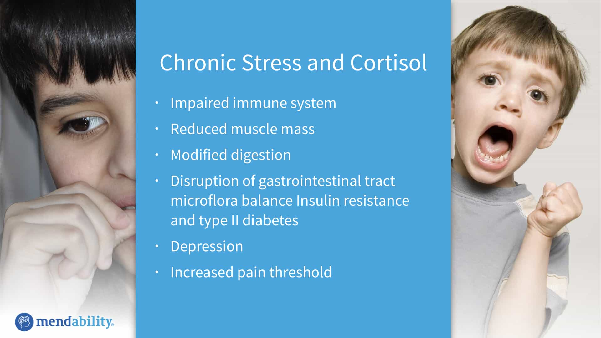 Health effects of chronic stress and cortisol