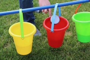 Outdoor Autism Activities - Pour and Match Water Color