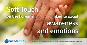 Soft Touch on the Forearm linked to social awareness and emotions